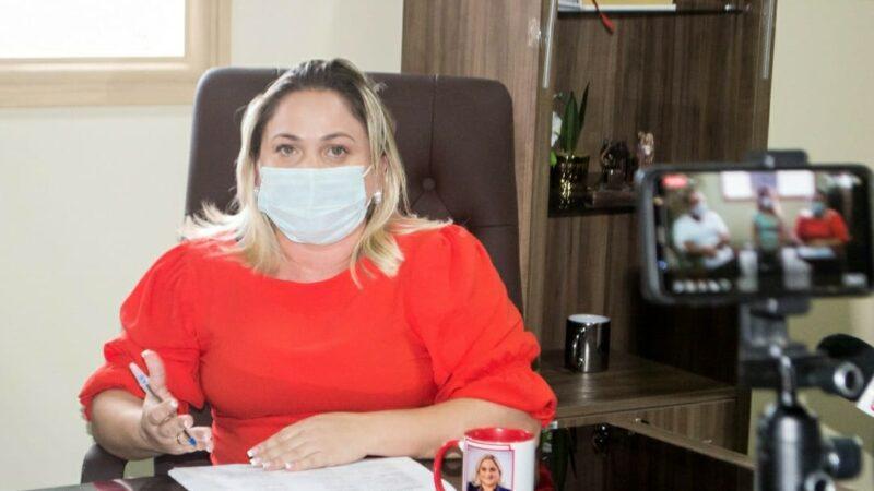 Cinthia Sonale solicita vacina Coronavac ao Governo para completar imunização