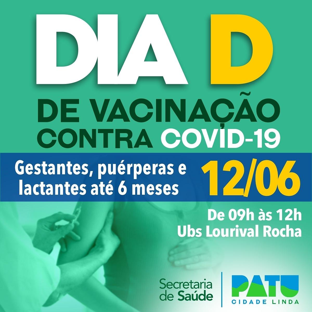 Dia D para gestantes, puérperas e lactantes com bebês de até 6 meses