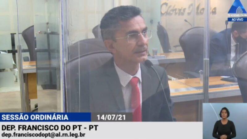 Deputado Francisco do PT comemora aprovação de lei que fortalece a CAERN como empresa pública