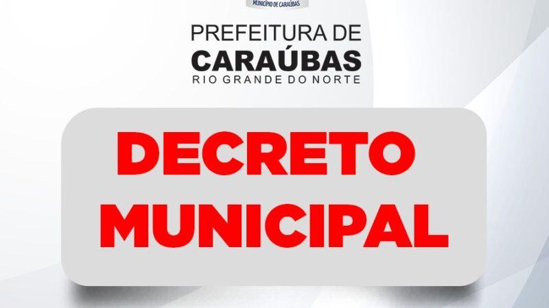 Prefeito decreta ponto facultativo nas repartições públicas do município de Caraúbas
