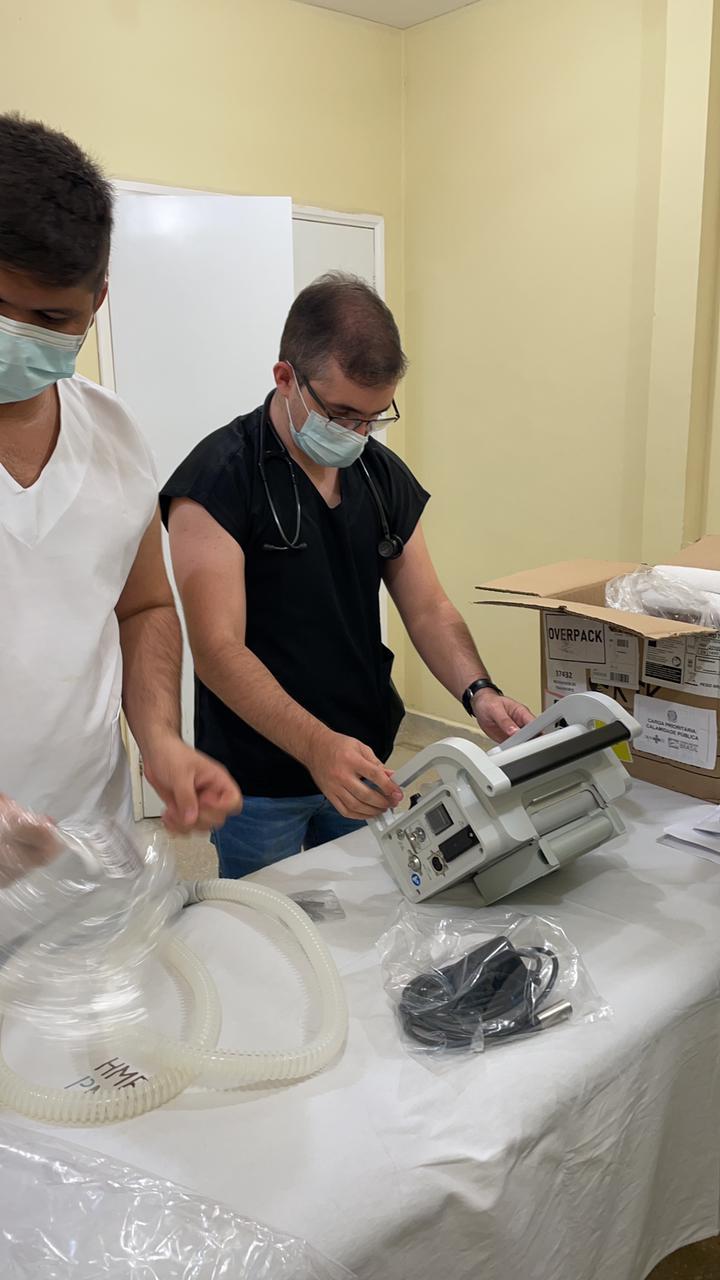 Prefeitura de Grossos recebe um Respirador Portátil