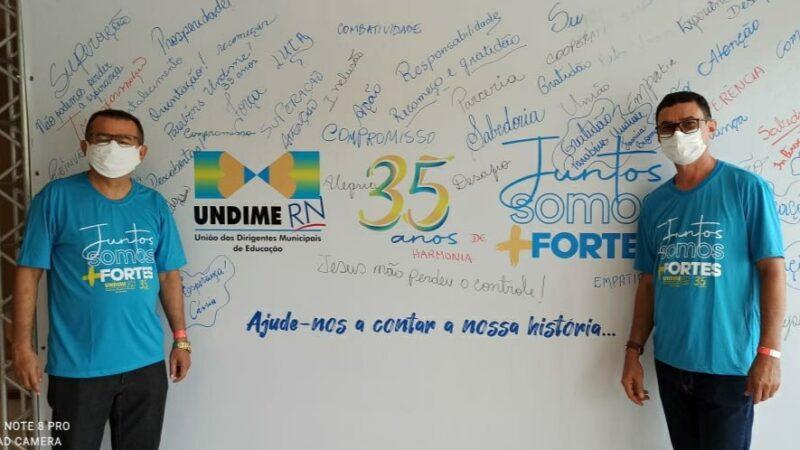 Secretário de Educação de Caraúbas participa em Natal de seminário da Undime RN