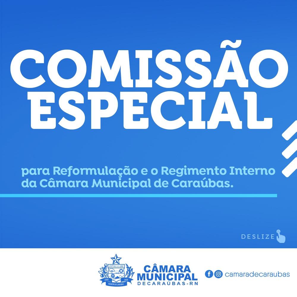 Câmara de Caraúbas forma comissão para reformular o Regimento Interno