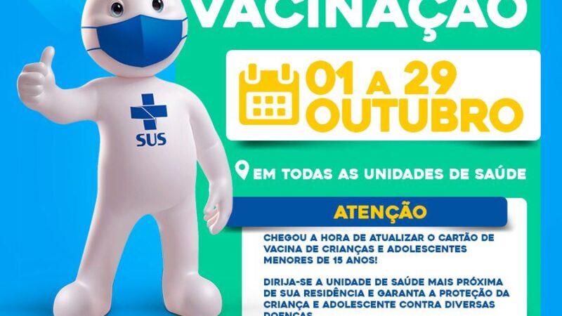 Secretaria de Saúde de Caraúbas inicia campanha de atualização de vacinas para crianças e adolescentes menores de 15