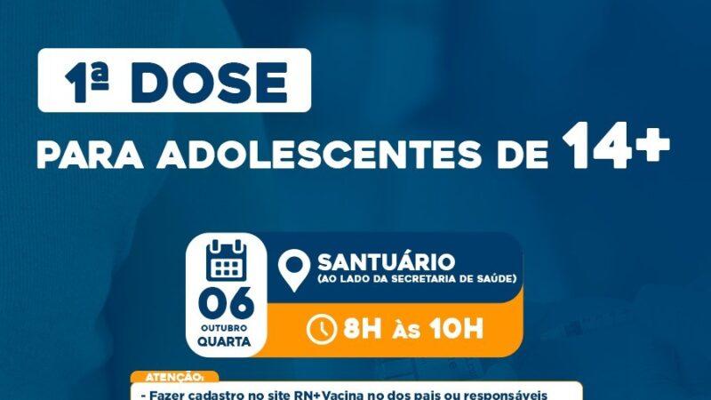 Secretaria de Saúde vacina adolescentes de 14 anos ou mais em Caraúbas